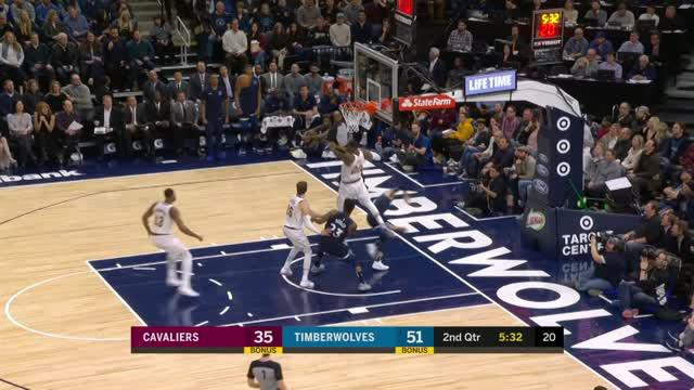 Berita video game recap NBA 2017-2018 antara Minnesota Timberwolves melawan Cleveland Cavaliers dengan skor 127-99.