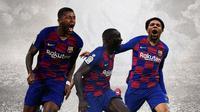 Barcelona - Georginio Wijnaldum, Tanguy Ndombele, Adama Traore (Bola.com/Adreanus Titus)