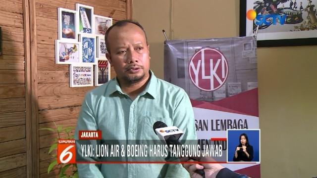 Satu bulan pasca jatuhnya pesawat Lion Air JT-610 di perairan Karawang, YLKI mendesak agar pihak maskapai dan Boeing bertanggung jawab atas insiden tersebut.