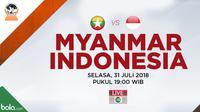 Jadwal Piala AFF U-16, Myanmar vs Indonesia. (Bola.com/Dody Iryawan)