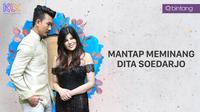 Denny Sumargo dan Dita Soedarjo. (Foto: Nurwahyunan/Bintang.com Desain: Muhammad Iqbal Nurfajri/Bintang.com)
