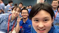 Zhou Chengyu [kanan]. (Twitter/@SpokespersonCHN)