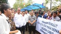 Mensos Agus Gumiwang di Bandung (Liputan6.com/dok Humas Kemensos)