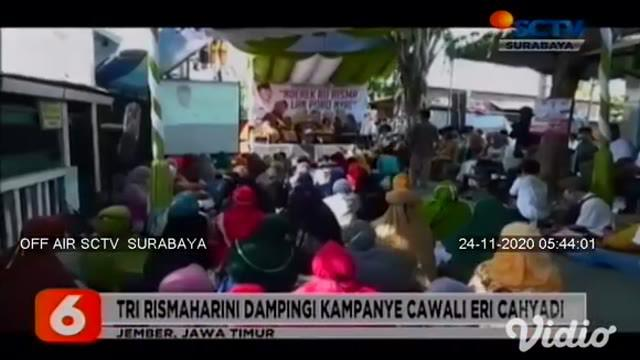 Calon Wakil Wali Kota Surabaya Nomor Urut 2, Mujiaman mengikuti pengajian dan acara shalawatan bersama warga di Kampung Asemrowo. Sementara Risma mendampingi Cawali Nomor Urut 1, Eri Cahyadi berkampanye di hadapan santri di Keputih.