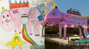 6 Potret Desain Rumah Terinspirasi dari Gambar Anak-anak, Bikin Takjub