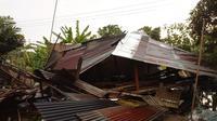 Angin kencang rusak rumah warga di Serdang Bedagai, Sumut (BNPB Indonesia)