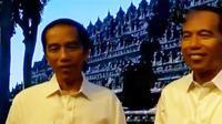 Patung lilin Presiden Joko Widodo atau Jokowi mengenakan busana yang persis sama dengan trademark sang Presiden. (Liputan 6 SCTV)