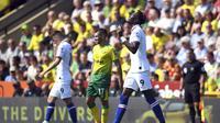 Tammy Abraham mencetak gol pertama untuk Chelsea saat melawan Norwich City (AP)