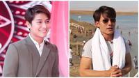Kemiripan Rizky Billar dan presenter asal Taiwan, disebut kembar. (Sumber: Instagram/@rizkybillar/YouTube/Asia Travel)
