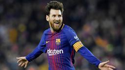 1. Lionel Messi (Barcelona) - 34 Gol (4 Penalti). (AFP/Lluis Gene)