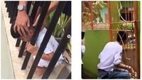 Video Saat Kepala Orang Nyangkut di Pagar Ini Bikin Geleng-geleng (sumber:Instagram dan Twitter/imamdarto dan RecehinAja)