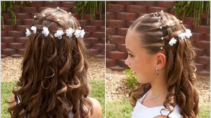 30 konsep terbaru model rambut anak perempuan untuk