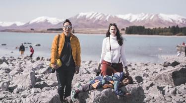 7 Potret Serunya Ringgo Agus dan Keluarga Liburan Ke Selandia Baru Pakai Campervan