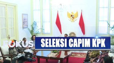 Jokowi mengucapkan terima kasih kepada pansel capim KPK yang telah bekerja keras menyeleksi para calon pimpinan KPK.