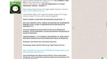 Cek Fakta Liputan6.com menelusuri klaim warga negara Tiongkok ajukan izin tinggal di Indonesia saat mudik dilarang