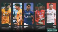Premier League - Raul Jimenez, Leander Dendoncker, Ayoze Perez, Nick Pope, John Lundstram (Bola.com/Adreanus Titus)