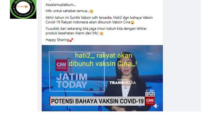 Cek Fakta Liputan6.com menelusuri klaim video rakyat Indonesia akan dibunuh vaksin China