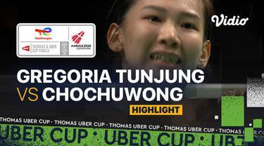 Berita video highlights pertandingan pertama Indonesia vs Thailand di perempat final Piala Uber 2020, di mana Gregoria Mariska Tunjung menelan kekalahan, Jumat (14/10/2021) dinihari WIB.
