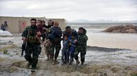 Ilustrasi banjir di Afghanistan (AFP Photo)