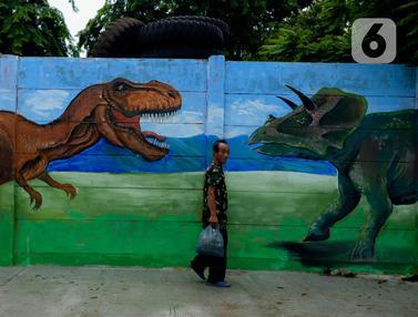 Mural Satwa di Sepanjang Bantaran Kali Opak
