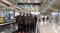 Persija Jakarta tiba di Myanmar, Sabtu (9/3/2019).