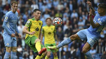 Jack Grealish Cetak Gol, Man City Hajar Norwich 5-0