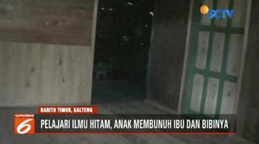 Seorang anak di Barito Timur, Kalimantan Tengah, membunuh ibu dan bibinya lantaran dilarang bongkar makam ayah.