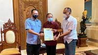 Ketua MPR RI Bambang Soesatyo silaturahmi dengan Pengprov IMI, di Bali, Jumat (20/11/20).