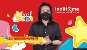 Komisaris Independen Telkom Abdi Negara Nurdin saat peluncuran channel spesial untuk anak, IndiKids di Peringatan Hari Anak Nasional 2021.