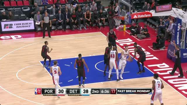 Berita video game recap NBA 2017-2018 antara Detroit Pistons melawan Portland Trail Blazers dengan skor 111-91.