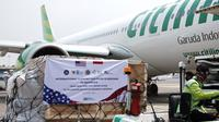 Citilink melakukan penerbangan langsung Indonesia-Amerika Serikat pp. dalam rangka mengangkut bantuan alat kesehatan (dok: Citilink)