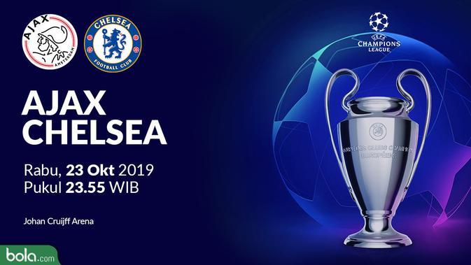 Jadwal Siaran Langsung Liga Champions Di Sctv Malam Ini Ajax Amsterdam Vs Chelsea Dunia Bola Com