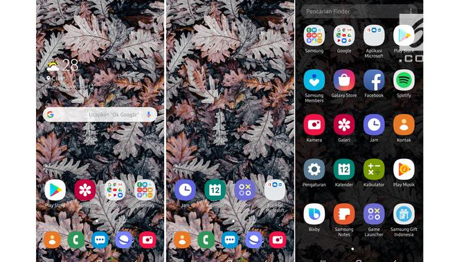 Tampilan One UI Galaxy A50 (Liputan6.com/ Agustin Setyo W)