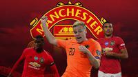 Manchester United - Paul Pogba, Donny van de Beek, Mason Greenwood (Bola.com/Adreanus Titus)