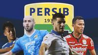 Persib Bandung - Febri Hariyadi, Muhammad Rashid, Nick Kuipers, Teja Paku Alam (Bola.com/Adreanus Titus)