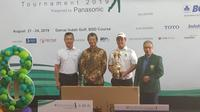 Joohyung Kim (kedua dari kanan) berhasil menjadi juara Ciputra Golfpreneur 2019 (Liputan6.com/Defri Saefullah)