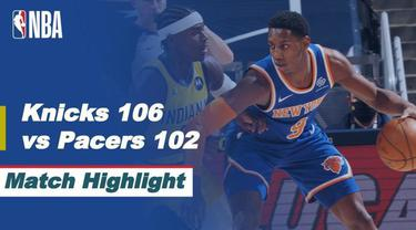 Berita Video Highlights NBA, New York Knicks Menang Tipis atas Indiana Pacers