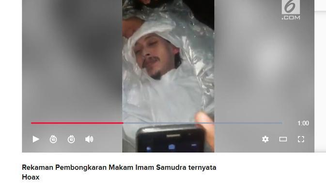 Penelusuran Klaim Video Jenazah Imam Samudra Masih Utuh saat Kuburannya Dipindahkan