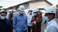 Edhy Prabowo saat mengunjungi  PT Bhanda Graha Reksa (Persero) di Kepala Gading, Jakarta Utara. (Istimewa)