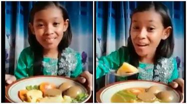 Lakukan Mukbang dengan Bahasa Jawa, Anak Ini Tuai Pujian Netizen