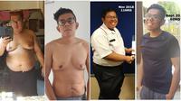 Transformasi tubuh Muhammad Shah bin Dewanan sebelum dan sesudah diet (Sumber: mothership.sg)