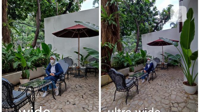 Hasil foto Redmi Note 10 Pro wide dan ultra-wide (Liputan6.com/ Agustin Setyo W).