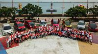 Honda Jazz Owner Club menggelar family gathering ke-4 di wilayah Jakarta Utara. (Jojo)