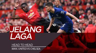 Berita video head to head catatan statistik dan data musim lalu jelang laga big match Premier League pekan pertama, Manchester United melawan Chelsea di Old Trafford.
