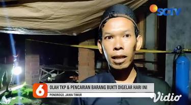 Warga Desa Sukorejo, Ponorogo, Jawa Timur dikagetkan dengan ledakan dari petasan yang diduga dirakit kakak beradik, Sunardi (23) dan Samuri (21). Selain menewaskan keduanya, ledakan tersebut juga meluluh lantahkan rumah mereka.