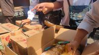 Ratusan manisan yang mengandung pengawet formalin disita dan dimusnahkan oleh Pemkot-BBPOM Palembang Sumsel (Liputan6.com / Nefri Inge)