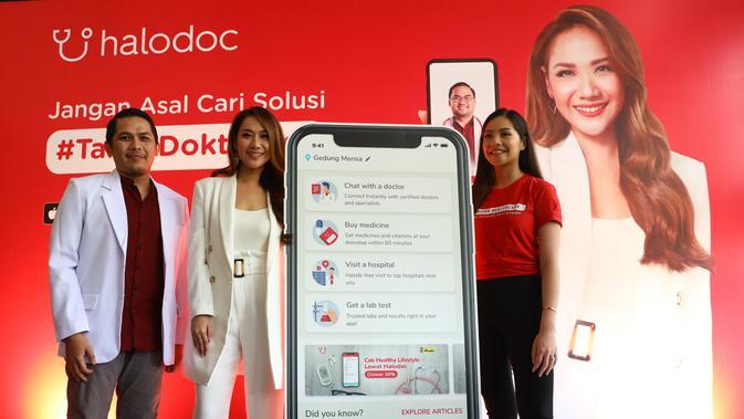 Kampanye #TanyaDokterAsli dari Halodoc dengan Bunga Citra Lestari sebagai salah satu pengguna aplikasi kesehatan ini (Foto: Halodoc).