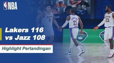 Berita Video Anthony Davis Bawa LA Lakers Kunci Puncak Klasemen NBA Wilayah Barat Setelah Mengalahkan Utah Jazz
