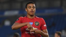 1. Mason Greenwood - Pemain berusia 18 tahun ini tampil mengesankan bersama Manchester United. Greenwood telah menyumbangkan 16 gol dan lima aasist di semua kompetisi. (AFP/Mike Hewitt/pool)