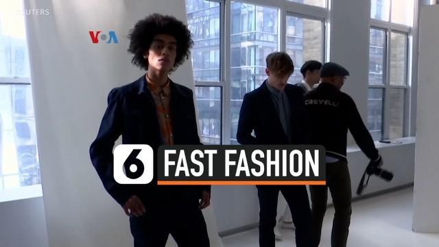 """Penolakan terhadap """"fast fashion"""" atau pakaian """"murah meriah"""" yang cepat dibuang bukan hanya menguat dalam industri busana perempuan, tapi juga busana laki-laki. Perancang mulai melirik bahan baku ramah lingkungan, termasuk bahan daur ulang atau limb..."""